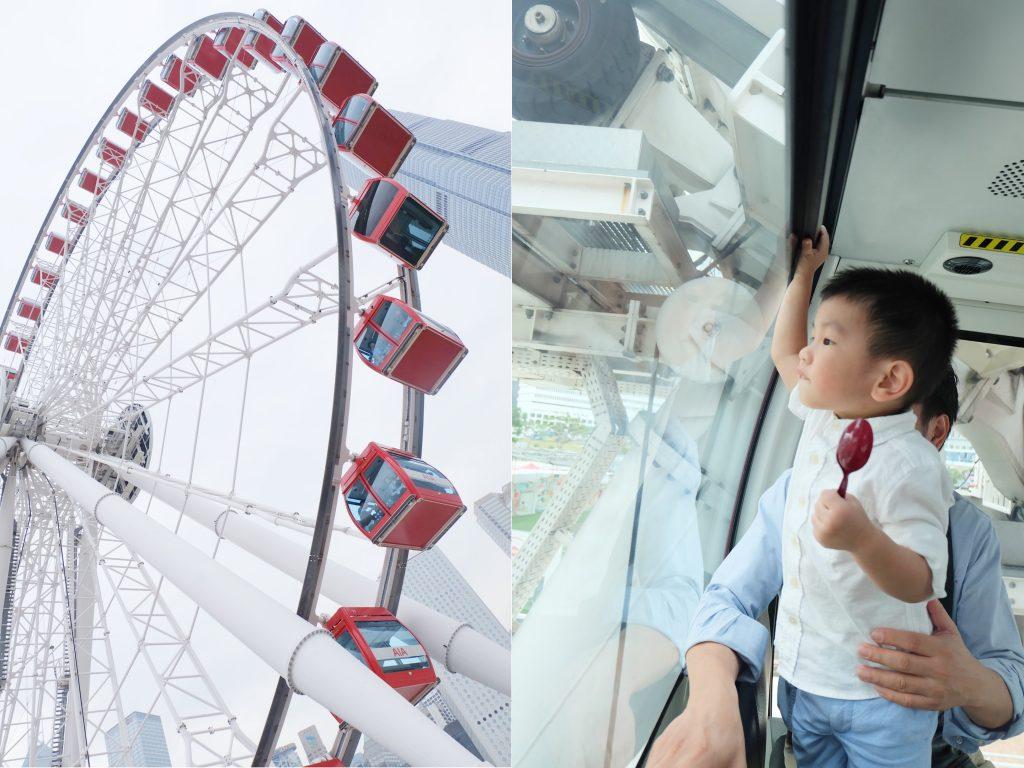 hong kong money saving tips family vacation ferris wheel