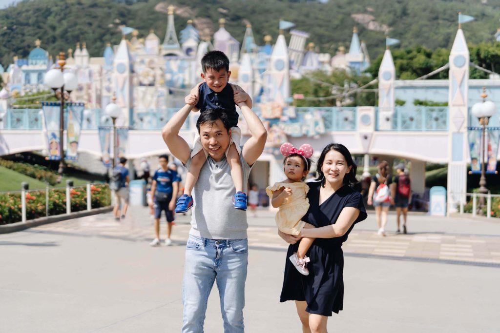 disneyland hong kong family photo by sweet escape