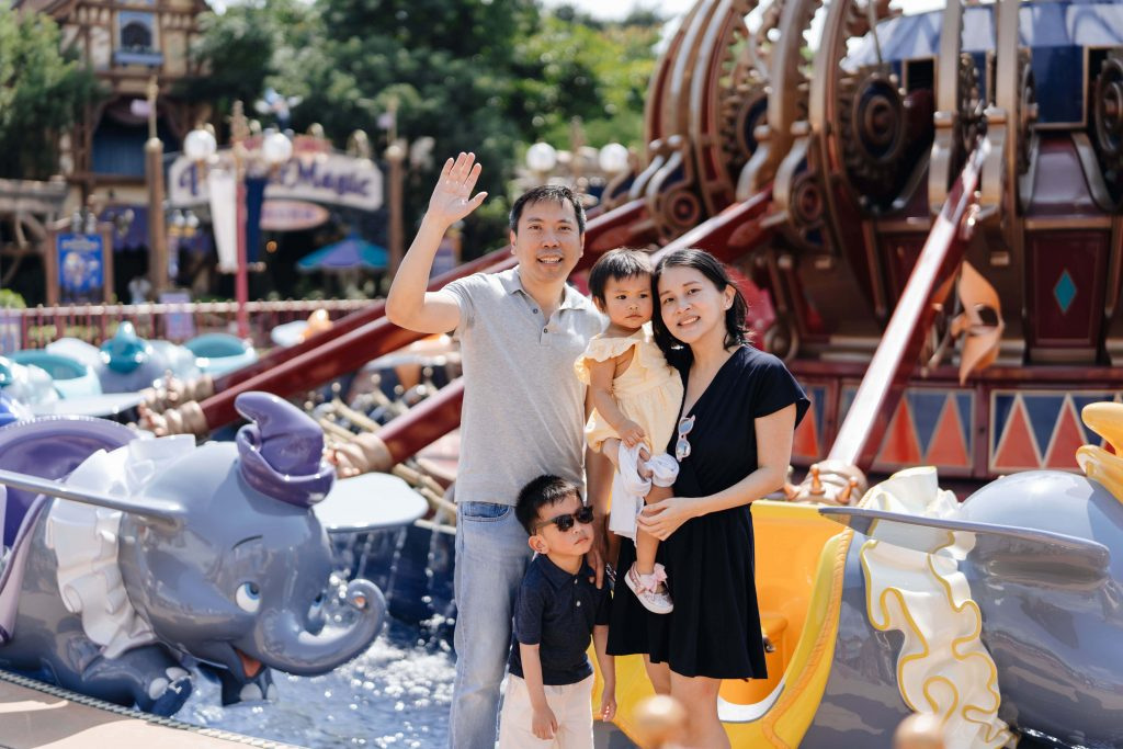 dumbo elephant ride disney photo family