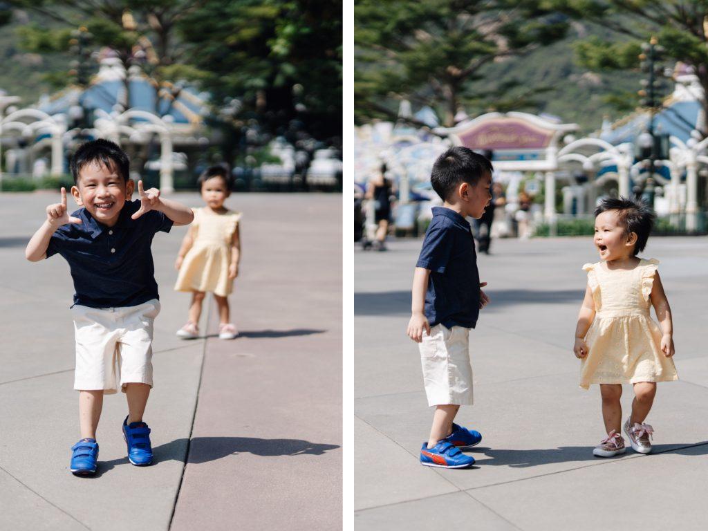 kids fun hong kong disneyland candid photos sweet escape