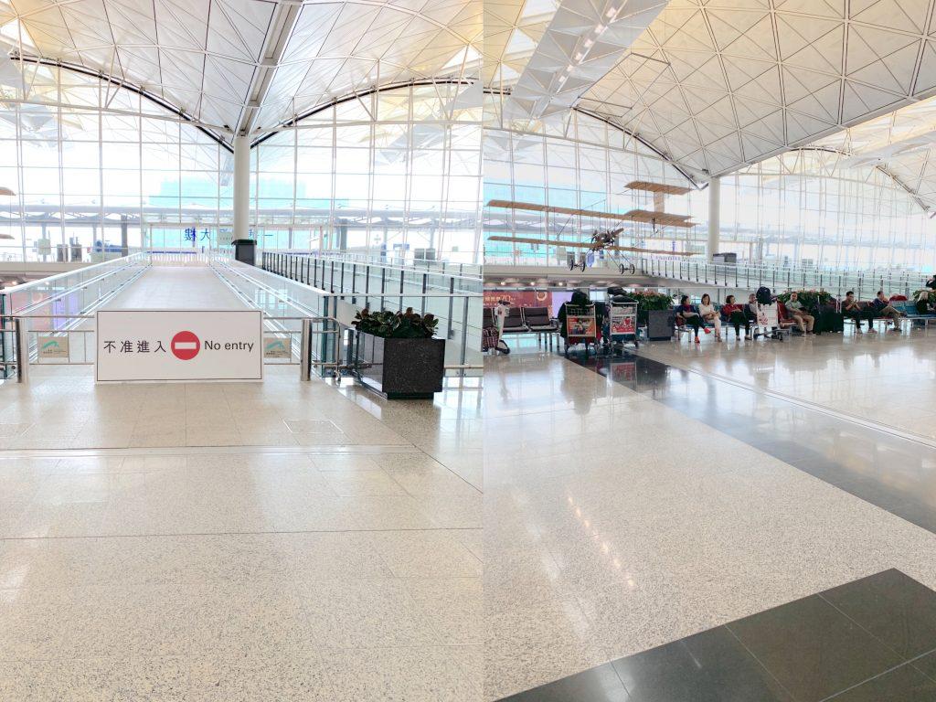 hong kong airport barrier
